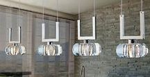 Kitchen Lighting - add style to your home / It's essential to have good task lighting in the kitchen so that you have clear illumination for preparing and cooking foods.  From wall lights, ceiling lights to pendants we've got your kitchen covered!