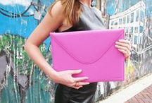 """Leather Accessories / 100% Napa lambskin envelope sleeves specially designed for 13"""" Macbook Air laptops, but transition easily to portfolios and oversized clutches. The perfect luxury accessory for the tech-savvy, fashion-forward individual."""