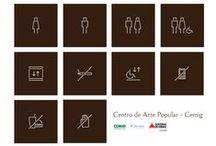 Cliente: IEPHA - CAP - Centro de Arte Popular (Gov. Minas) / Identidade visual, sinalização do museu e material de divulgação.