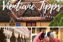 Laos Reise / Hier findet ihr Tipps für eure Reise durch Laos und so kann eure Reiseroute aussehen: Luang Prabang ✈ Vang Vieng ✈ Vientiane