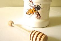 Bees in Art / Bee related inspirational items such as jewelry, place settings, silverware, paintings, pottery, towels, etc.  Everything to inspire the bee lover.