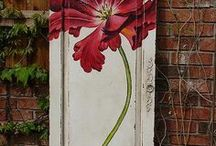 Garden Ideas / Garden gates, privacy fences, garden art, DIY garden projects, outdoor fireplaces and chimneys