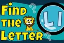 "Find the Letter Series / These videos help children recognize the shapes of upper and lower case letters!   The ""Find the letter"" series not only helps kids with letter recognition, but also encourages them to look for letter shapes in familiar surroundings.   In each picture, we include objects that start with the specific letter.  We hope you and your children/students will enjoy our Find the Letter Series!"