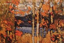 Art of Tom Thompson / Technically not one of the group of seven artisits but often considered one, his Algonquin Park paintings are my favourite.