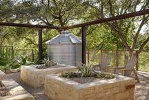 garden ↟ rainwater / Rain barrels, water harvesting, irrigation, best management practices, stormwater, roof water, rain collection, rain collecting