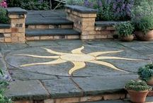 Paving Circles / Decorative and feature paving circles for patios, and driveways #PavingCircles #FeaturePavingCircles
