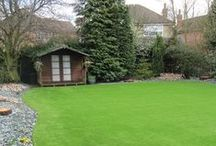 Artificial Grass and Turf / Synthetic artificial grass and turf is a practical and stylish alternative to real grass that is both pet and child friendly. You will not believe how realistic imitation grass can be, banish that muddy lawn! #ArtificialGrass #ArtificialTurf #FakeGrass