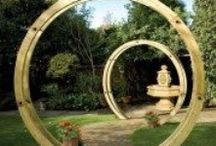 Garden Pergolas / Stunning wood timber pergolas for your garden.  Create and impressive seating area, walk way or simple arch with climbing plants