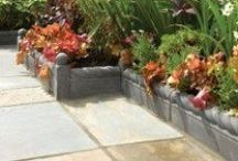 Decorative Edging Stones For Paths and Driveways / Decorative coloured stone and concrete edging stones for paths, patio's and driveways.
