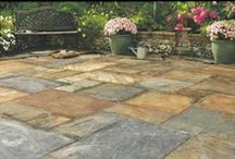 Natural Slate Paving / Natural slate is a beautiful material full of colour and surface variation that makes it perfect for creating stunning contemporary and rustic patio's and pathways.