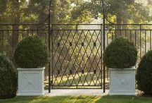 garden ↟ gates + fences / garden fences, garden gates, driveway gates, pool fence, wood fence, metal fence, wood gate, metal gate
