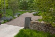 garden ↟ walls + steps / garden walls, freestanding walls, retaining walls, stone walls, corten walls, masonry, garden steps, landscape steps, outdoor stairs