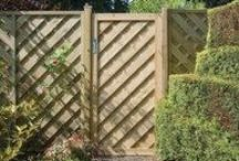 Wooden Garden Gates / A selection of decorative and heavy duty wooden gates in feather edge, trellis, arched and picket styles for both contemporary and rustic cottage gardens and paths.