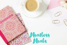 Meatless Meals / Vegetarian recipes. Vegan recipes. Meatless Monday ideas and recipes.  Save money by eating less meat. healthy vegetarion food.