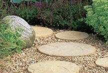 Spring Garden Ideas / Everything you need to smarten up your outdoor space as we approach the warmer months.  You'll find loads of essential items in this board such as trellis, stepping stones, path edgings, sleepers and wooden stakes.