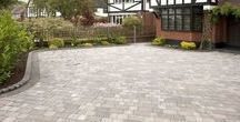 Driveway ideas / Most houses have driveways and we all know that curb appeal really sets the tone for your property. Here are some ideas for driveways we love.  #driveways