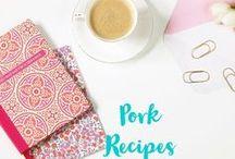Pork / Pork Recipes. Pork Chops. Pork Loin. Sausage. Pulled pork. Pork recipes. Simple pork recipes.