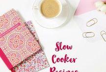 Slow cooker / Slow cooker recipes. Simple crock pot recipes. Make ahead crock pot meals.