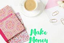 Make Money / make money at home. Side hustle. Make money blogging. Online money making. Working