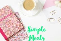 Simple Meals / Simple Weeknight Dinners. Simple Recipes. Easy recipes. Simple food. Kid approved food. Fast dinners. Cheap easy dinners.