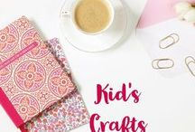 Kids Crafts / Kids crafts. Crafts for kids. Fun crafts for kids. Art with kids.