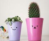 Cute flower pots / Cute, kawaii flower pots to DIY
