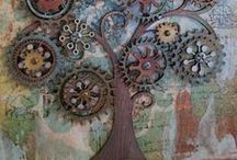 Mixed Media & Assemblage Art / Art using more than one type of media & found things. / by Andrea Chaput