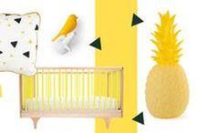 Jaune et Graphique / Yellow / La couleur jaune est le symbole même de la joie et du bonheur. Associé au soleil, à l'été, elle permet d'égayer et d'embellir une décoration.
