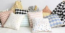 Coussins / Pillows / Pour habiller une pièce, rien de tel que des milliers de coussins. Il y en a pour tous les goûts, toutes les humeurs et toutes les occasions !
