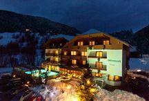 Wintergenuss im Almrausch / Im Winter fahren Sie ohne den Ski abzuschnellen vom Hotel zu den Pisten und retour. Das Hotel Almrausch**** liegt direkt an der Sonnwiesenabfahrt und nur wenige Meter vom Sessellift Sonnwiesen.