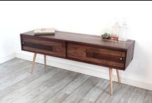 Mid Century Consoles / Storage consoles • sideboards • record storage • TV stands | Solid wood furniture pieces designed & built with 21 years of experience • traditional joinery with a modern aesthetic • mid century decor | shop @ jeremiahcollection.com