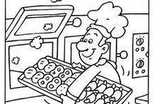 > knutselen in bakker-thema <
