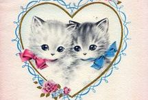 Valentine's Day Cats / ❤  >^..^< ❤    Cats and kittens Valentine's Day cards, art, etc... / by dachweiler