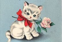 Birthday Cats / cat / kitten vintage & modern birthday cards & postcards / by dachweiler