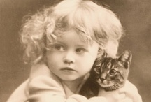 Vintage Photos - Cats & People / vintage / antique photos of cats with people / by dachweiler