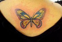 Tattoos - Borboletas / Trabalhos assinados por Cris Maia