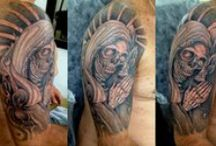 Tattoos - Caveiras / Trabalhos assinados por Cris Maia
