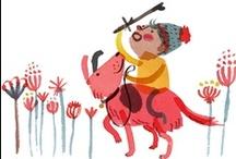 little boys and girls - illustration