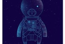 astronauts - illustration