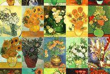 Vincent Van Gogh ( 1853-1890) / Un genio prolifico perché autore di quasi novecento dipinti e più di mille disegni, (senza contare i numerosi schizzi non portati a termine e i tanti appunti destinati probabilmente all'imitazione di disegni artistici di provenienza giapponese) e perché influenzò profondamente l'arte del XX secolo.