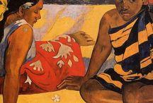 Paul Gauguin (1848-1903) / Pennellate curve, brevi, e di una policromia nervosa fatta di colori opachi, sordi e materici che, evidenziati da riflessi artificiali, danno vita a una sensazione di immobile ampiezza.
