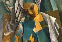Pablo Picasso (1881-1973) / Dalle malinconiche opere del periodo blu, passando per il periodo rosa popolato dal mondo del circo (acrobati, bambini, pagliacci panciuti, equilibristi e fragili ballerine), Picasso approda alla frammentazione del cubismo, dove schegge di realtà si sovrappongono a creare un nuovo ordine.