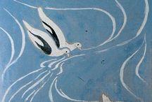 """Maurice Denis (1870-1943) / Come """"Nabi"""" (=profeta) Maurice Denis dipinge quadri di stampo intimistico, enigmatico e i temi della sua pittura, di carattere religioso o situazioni della vita quotidiana, sono portati in una dimensione ideale ed irreale, in un'atmosfera di calda e serena intimità, ottenuta con un tratto estremamente delicato."""