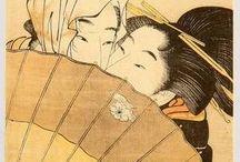 """Ukiyo-e / L'ukiyo-e (浮世絵 """"immagine del mondo fluttuante"""") è un genere di stampa artistica giapponese su blocchi di legno, fiorita nel periodo Edo, tra il XVII e il XX secolo."""