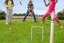 Popularne Zabawki  do Ogrodu / Zabawki ogrodowe, trampoliny, Zestawy do gry w Krokieta, Domino, Palanta, Huśtawki. Zabawki firmy angielskiej Plum Products.
