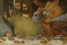 Leonardo Da Vinci (1452-1519) / Un genio tutto italiano, grande in ogni campo è particolarmente nella Pittura. Fu il primo a studiare le proporzioni del Corpo umano e degli animali.