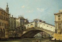 Ippolito Caffi (1808-1866) / L'opera del Caffi, pur se ispirata ai modelli del Settecento veneziano, riuscì a modernizzare il vocabolario pittorico delle vedute, sia esplorando nuovi punti di vista, come nelle scene notturne, sia con temi inusuali, come il volo della mongolfiera.