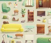 furniture - illustration