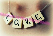 Scrabble Necklaces
