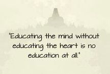 Education Quotes / #Education #Quotes to inspire teachers and educators, parents and students for higher consciousness learning.